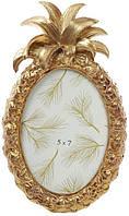 Фоторамка Tudor Ананас овальная фото 13х18см (цвета состаренного золота) BD-450-145