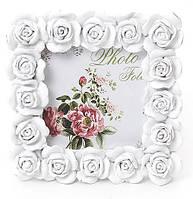 Фоторамка Sweet White Белые Розы квадратная 10.5х10.5см BD-493-512