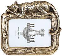 Фоторамка Гепард для фото 10х15см состаренное золото BD-450-199