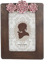 Фоторамка Viljandi Flowers для фото 10х15см коричневый BD-450-204