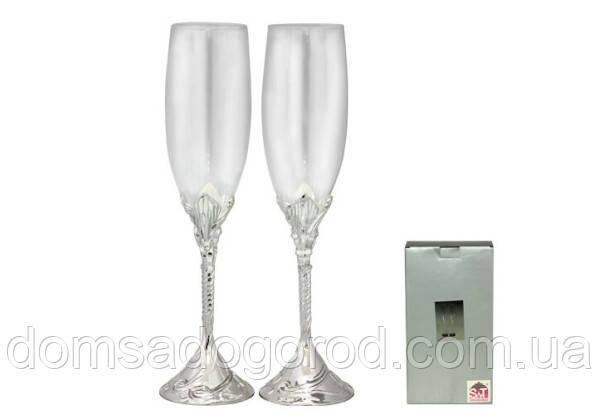 Набір келихів для шампанського S&T Закохані Серця 220 мл 2 пр 7047-14