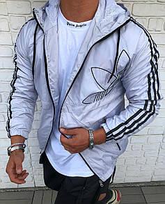 Мужская ветровка куртка с капюшоном на молнии ADIDAS