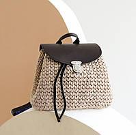 Набір для рюкзака екокожа Шоколад МАКСІ (10 позицій-Шоколад) фурнітура срібло, фото 2