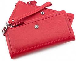 Жіночий шкіряний гаманець Boston 9134 Червоний