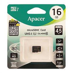 Карта пам'яті 16 GB Apacer microSDHC Class 10 UHS-I (без адаптера)