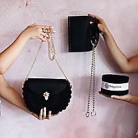 Набір для сумки-черепашки Орео МАКСІ Шоколад, фурнітура срібло, фото 6