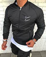Мужская ветровка куртка с капюшоном на молнии Nike Swoosh Black