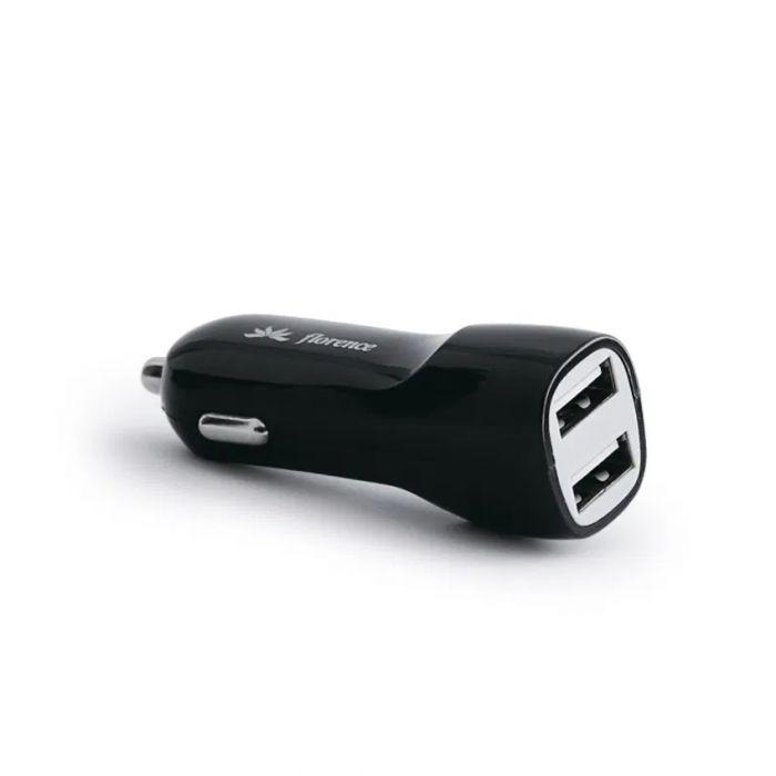 АЗУ Florence 2in1 2USB 2.1A Micro USB Black (CC21-MU)