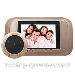 Відеовічко дверної цифровий для квартири Kivos SG35 (100694)