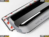 Вітровики, дефлектори вікон Chevrolet Aveo 3 Хромовані 2005-, фото 3