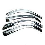 Вітровики, дефлектори вікон Chevrolet Aveo 3 Хромовані 2005-, фото 4