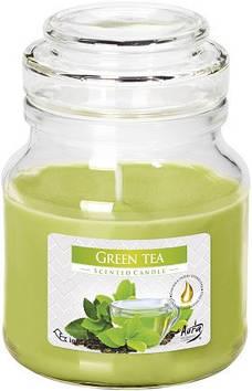 """Свічка з ароматом """"Bispol"""" snd71-83 зелений чай (банку)/Польща/(12)"""
