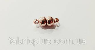 Застежка магнит для бус браслетов 6 мм цвет золото