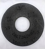 Круг шлифовальный электрокорунд нормальный керамика 14А ПП 350х40х127 16-50 СМ-СТ/F80-F36 K-O, фото 2