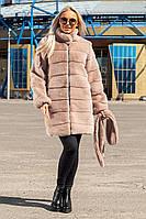 Шуба Шиншилла №37-Д с утеплителем пудра, фото 1