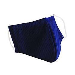 Многоразовая защитная маска для лица Sport синяя (размер M)