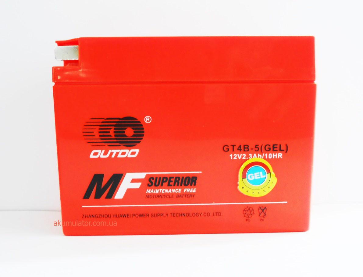 Акумулятор МОТО GEL 12V 2,3 Ah (GT4B-5)