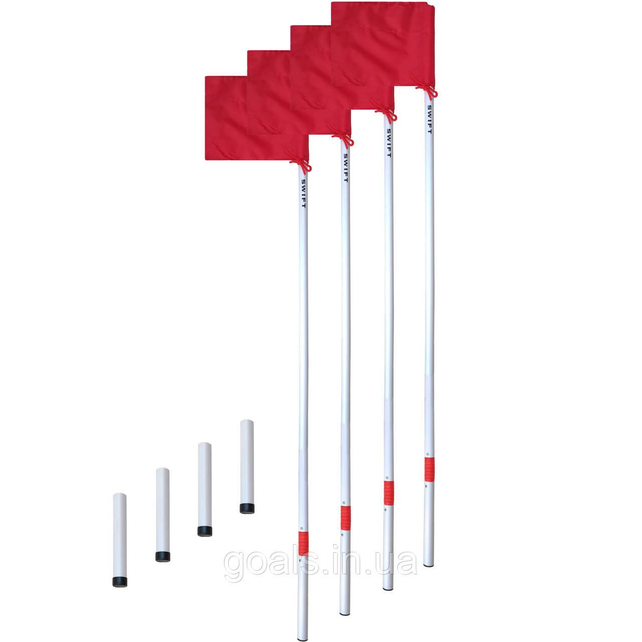 Флаги угловые SWIFT Corner Flag Flexi Pro, с пластиковым стаканом (4 шт)
