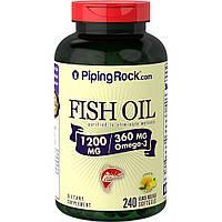 Piping Rock Omega 3 Fish Oil 1200 mg softgel 120