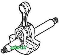 Колінвал мотооприскувача (садового оприскувача) STIHL SR 430, SR 450