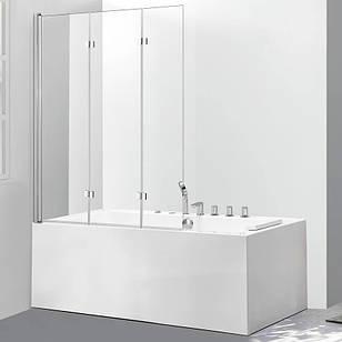 Стеклянная шторка для ванны AVKO Glass 542-7 100х140 см Clear перегородка для ванной