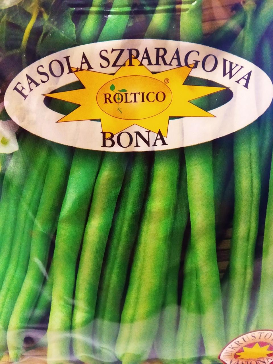 Семена зеленой спаржевой фасоли Бона сорт среднеранний для универсального применения 40 грамм  Roltico Польша