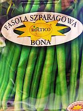 Насіння зеленої спаржевої квасолі Бона сорт середньоранній для універсального застосування 40 грам Roltico Польща