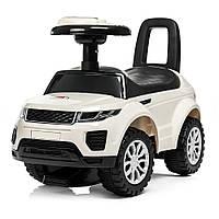 Детская машинка-каталка Sport Car белая с музыкой и светом
