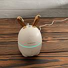 Зволожувач повітря Humidifier Rabbit міні нічник 2в1 з LED підсвічуванням зайка зайчик вушками подарунок 14, фото 6