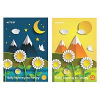 Набор картон + бумага, 14 цветов (7+7), Kite