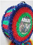 Пиньята roblox бумажная для праздника роблокс пиньята барабан таблетка, фото 3