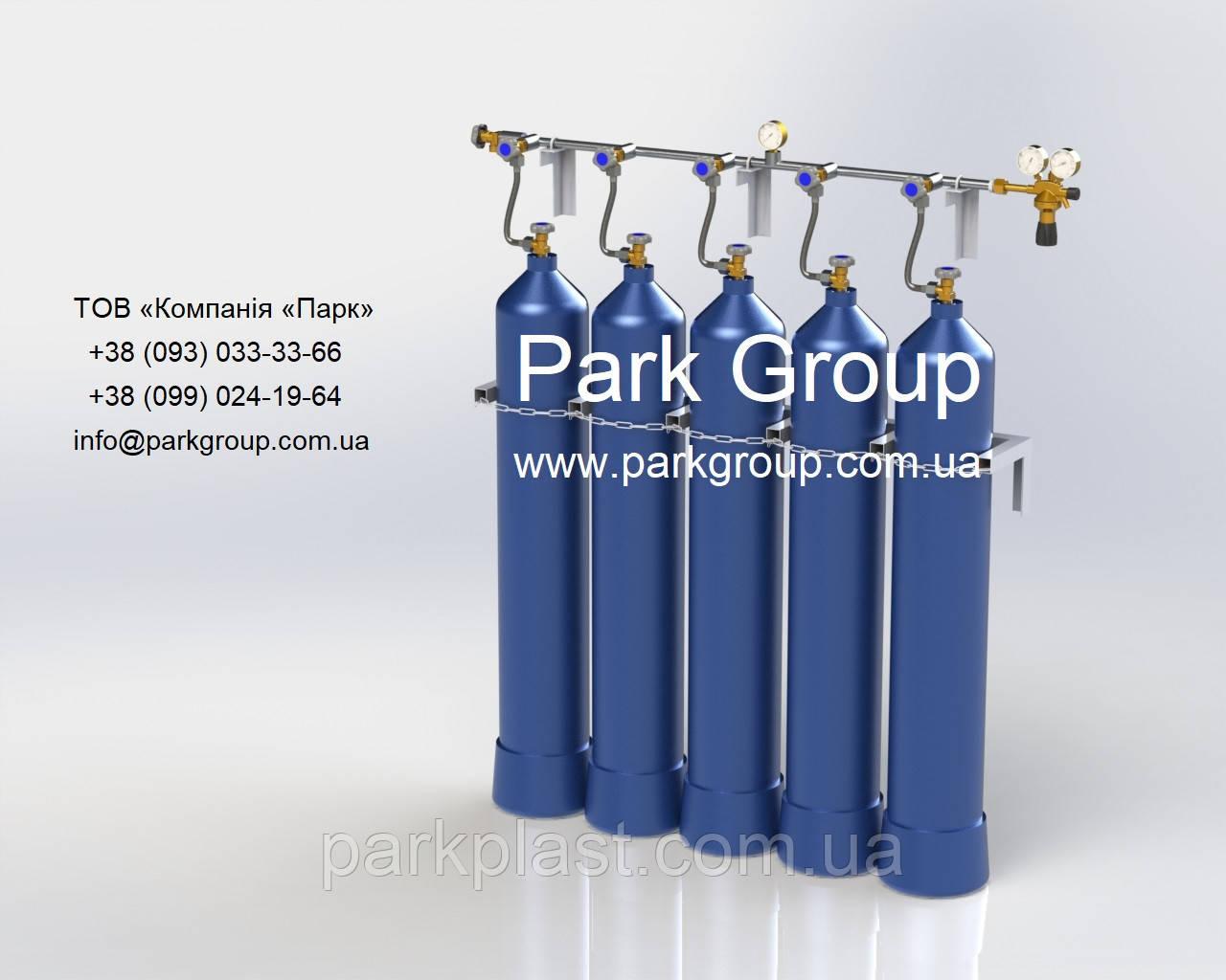 Рампа для кислорода, рампа для инертных газов (кислородная рампа, азотная рампа)