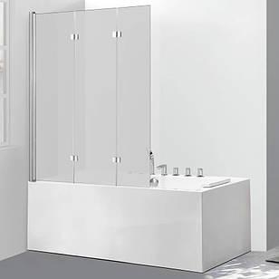Стеклянная шторка для ванны AVKO Glass 542-7 120х140 см перегородка для ванной Матовое