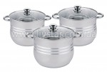 Набор кастрюль кухонной, 3 предметов 11.2, 14.2, 17.7 лтр. EB-517