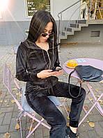 Жіночий стильний велюровий костюм в кольорах (Норма і батал), фото 6