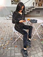Жіночий стильний велюровий костюм в кольорах (Норма і батал), фото 7