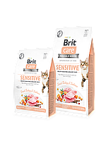 Brit Care(Брит Кеа) Cat GF Sensitive HDigestion & Delicate Taste (чувств.желудок+привередливые) 0,400г