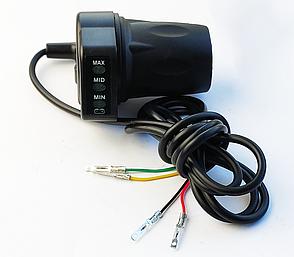 Ручка газу з індикатором заряду акумулятора 36V дитячих электроквадроциклов Profi HB-6\Crosser 90304, фото 2