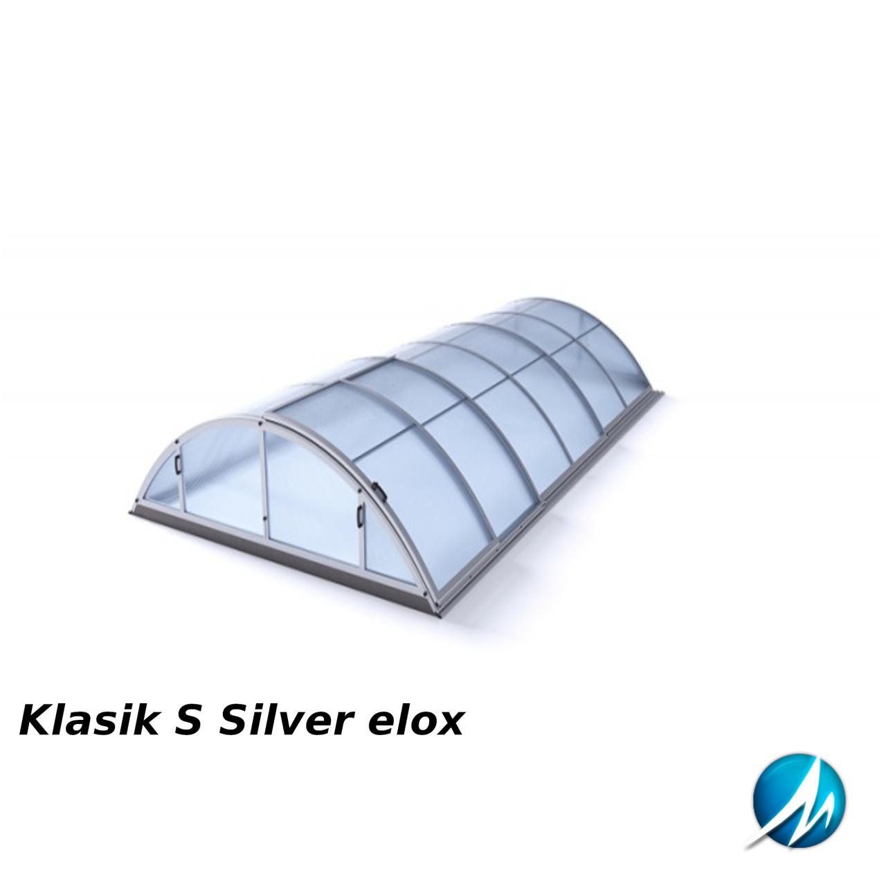 Павильон для бассейна Klasik S 3,6х4,3х1м - Silver elox