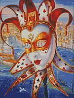 Схема вышивки бисером Венецианская маска (полная зашивка) dp-12119