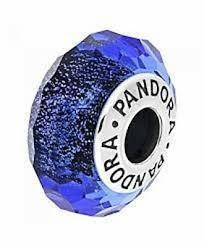 """Серебряный шарм Pandora """"Синее мурано"""" 791646"""