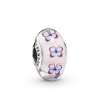 Серебряный шарм Pandora «Стеклянные бабочки» 797893
