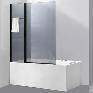 Стеклянная шторка для ванны AVKO Glass 542-8 100х140 см перегородка для ванной