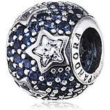 """Срібна намистина Pandora """"Сині зірки"""" 791382CZ, фото 2"""