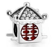 """Срібна намистина Pandora """"Китайський будиночок"""""""