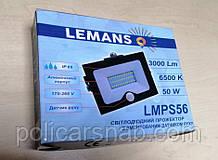 Прожектор світлодіодний LED 50 Вт 6500K LEMANSO з датчиком руху LMPS56