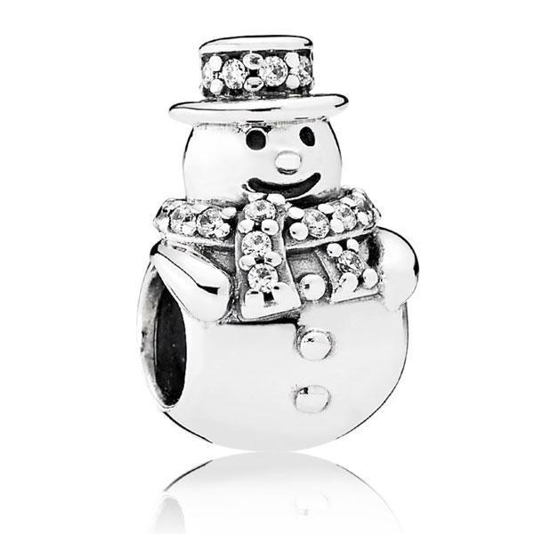 """Срібна намистина Pandora """"Сніговик"""" 792001CZ"""