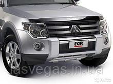 Хром накладки на передние фары Mitsubishi Pajero Wagon 4 2007- (EGR)