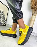 Женские кроссовки на платформе в разных цветах 3422, фото 2