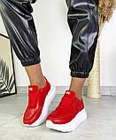 Женские кроссовки на платформе в разных цветах 3422, фото 4